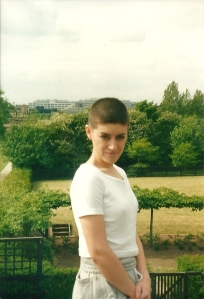 Me on a Milton Keynes roof (don't ask) with very little hair!