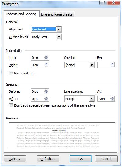 Typesetting Your Book In Word (4/5)