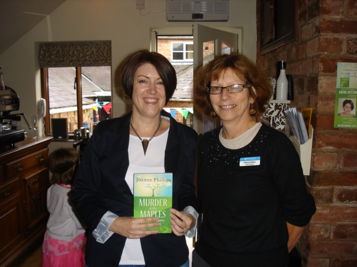 With the very lovely Sheena from Shrewsbury library