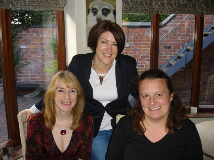 With Kate Long and ace beta-reader Rachel Owen