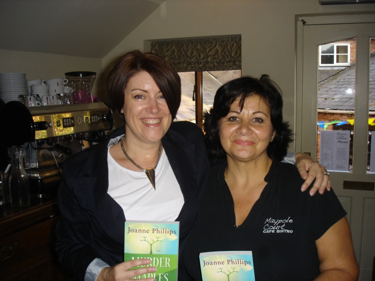 With the owner of Maypole Court Cafe Bistro, Debbie Greenough