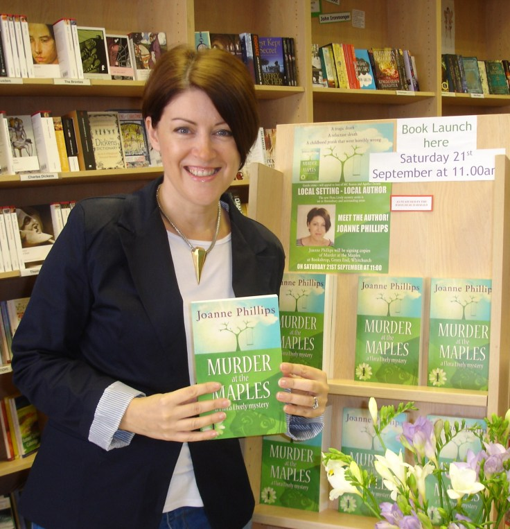 In Bookshrop, Whitchurch signing copies - and with my own stand of books!