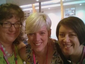 Debbie Young, Talli Roland and me catching a selfie!