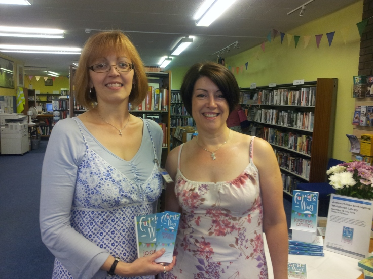 Proud author at Whitchurch library