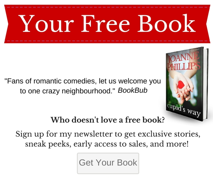 Newsletter sign up and free book